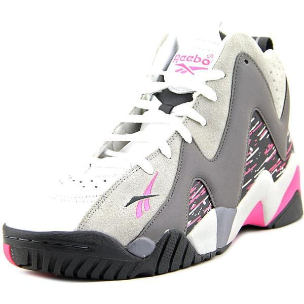 Shop Reebok Men s  Kamikaze II Mid  Leather Athletic Shoes - Free Shipping  Today - Overstock.com - 12437487 ea8c893ad