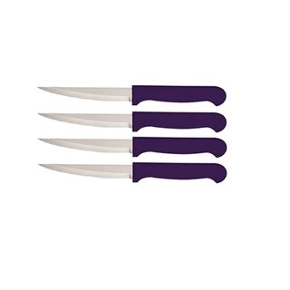 Quikut HomeBasics Purple 4 Piece Steak Knife Set