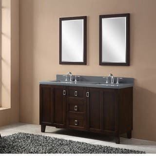Dark Brown Finish 60-inch Grey Quartz Top Double Sink Bathroom Vanity|https://ak1.ostkcdn.com/images/products/12437617/P19253104.jpg?impolicy=medium