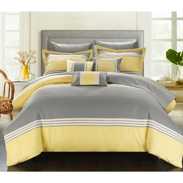 Chic Home Falconia Yellow 8 Piece Bed In A Bag Comforter