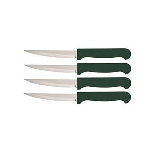 Quikut HomeBasics Green Stainless Steel 4-piece Steak Knife Set