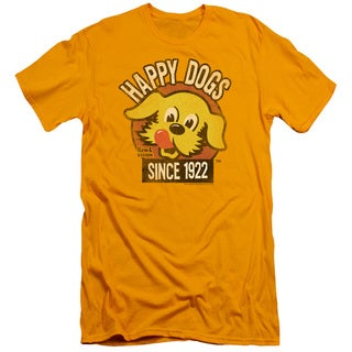 Ken L Ration/Happy Dogs Short Sleeve Adult T-Shirt 30/1 in Gold