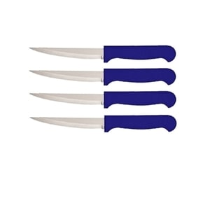Quikut HomeBasics Blue 4-piece Steak Knife Set