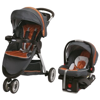 Graco Tangerine Fast Action Sport Travel System With SnugRide Click Connect 35 Infant Car Seat