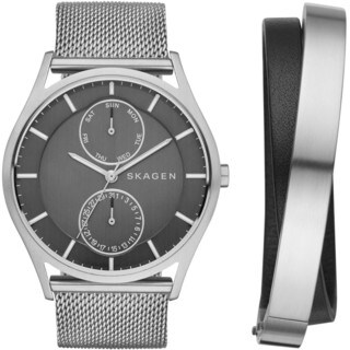 Skagen Men's SKW1073 'Holst' Bangle Set Stainless Steel Watch