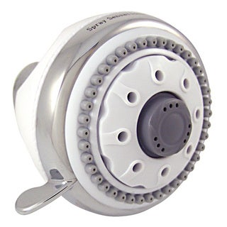 Plumb Craft Waxman 8684500 White & Chrome SpraySensations HydroSpin Fixed Showerhead