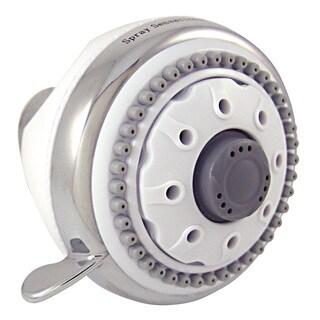 Plumb Craft Waxman 8684500 White & Chrome SpraySensations HydroSpin Fixed Showerhead