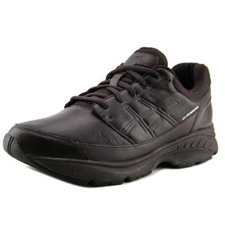 Asics Men's GEL-Foundation Workplace Brown Leather Athletic Shoes