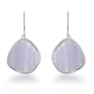 La Preciosa Sterling Silver Faceted Gemstone Dangle Earrings