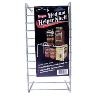 "Grayline 40700 10-3/4"" X 5-1/4"" X 5-1/4"" Medium White Helper Shelf"