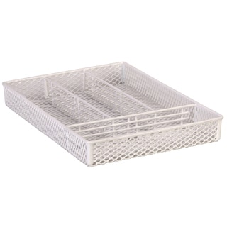 "Grayline 41800 14.5"" X 10.25"" X 2"" White Vinyl Wire Handy Organizer"