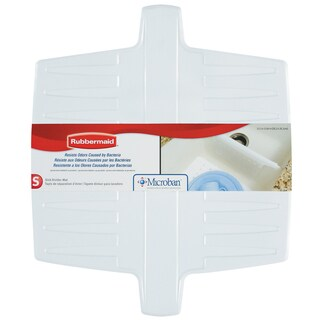 Rubbermaid 1297ARWHT White Twin Sink Divider Mat