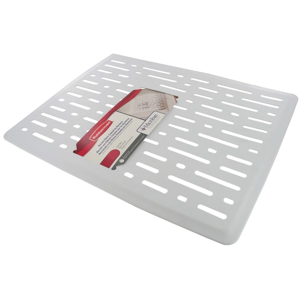 High Quality Rubbermaid 1G1706WHT White Twin Sink Mat