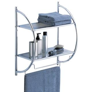 organize it all 1753wb chrome twotier shelf with towel bars