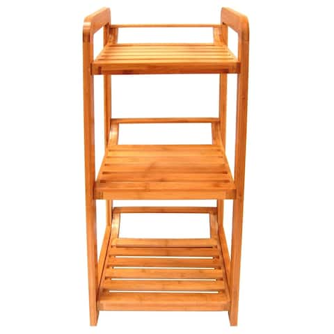 Organize It All 29953W 3 Tier Bamboo Lohas Tower