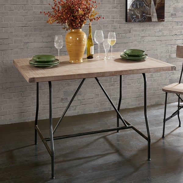 shop piper adjustable height dining table free shipping today rh overstock com adjustable height kitchen work table