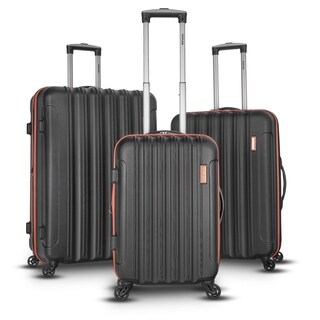 Topline 3-piece Expandable Hardside Spinner Luggage Set