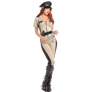 4-piece High-quality 'Dazzling Deputy' Sexy Adult Costume