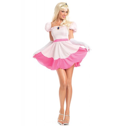 Be Wicked Women's Pink Spandex Polyester 3-piece 'Perilous Princess' Costume