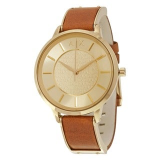 Armani Exchange Women's AX5314 'Street' Brown Leather Watch