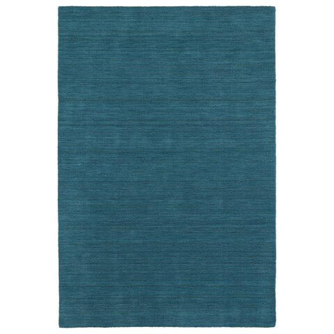 "Gabbeh Turquoise Hand Made Rug - 7'6"" x 9'"