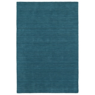 """Gabbeh Turquoise Hand Made Rug (5' x 7'6"""")"""
