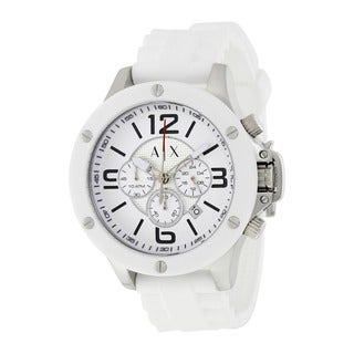 Armani Exchange Men's AX1525 'Street' Chronograph White Silicone Watch