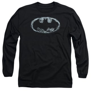 Batman/Smoke Signal Long Sleeve Adult T-Shirt 18/1 in Black