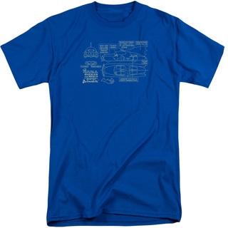 Batman/Batmobile Short Sleeve Adult T-Shirt Tall in Royal