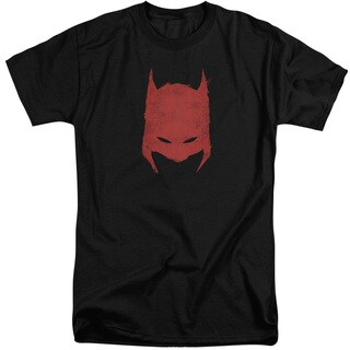Batman/Hacked & Scratched Short Sleeve Adult T-Shirt Tall in Black