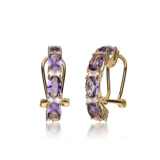 Collette Z C.Z & AMET EARRING