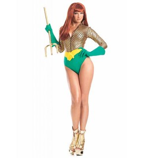 Be Wicked Women's Alluring Aquagirl Polyester/Spandex 3-piece Adult Costume