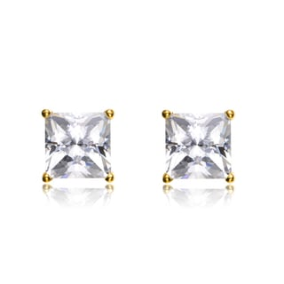 Collette Z Sterling Silver Cubic Zirconia Square Studs