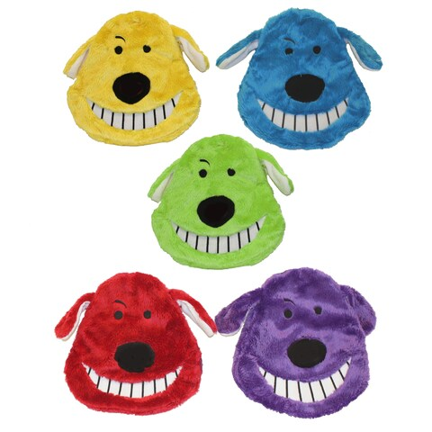 Multipet Multicolor Plush Loofa Crinkle Head Dog Toy