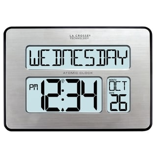 La Crosse Technology 513-1419BL-INT Backlit Atomic Full Calendar Large-digit Clock