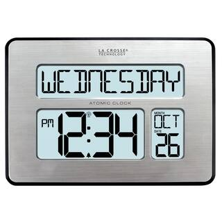 La Crosse Technology 513-1419BL-INT Backlit Atomic Full Calendar Large-digit Clock|https://ak1.ostkcdn.com/images/products/12439174/P19254539.jpg?impolicy=medium