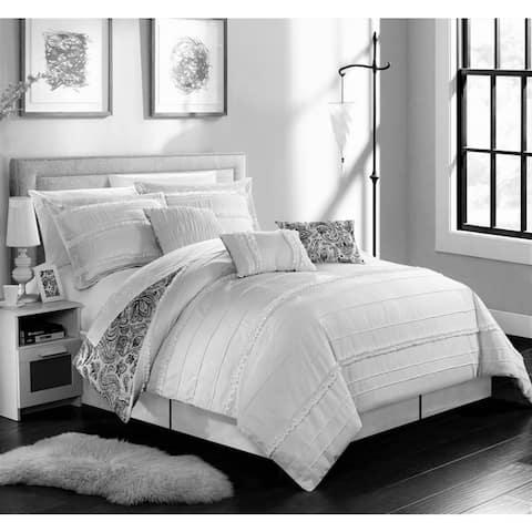 Chic Home Maeve White Comforter 7-Piece Set