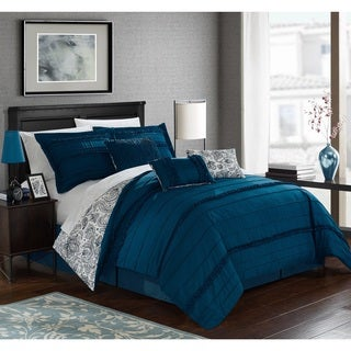 Chic Home Maeve Blue Comforter 7-Piece Set