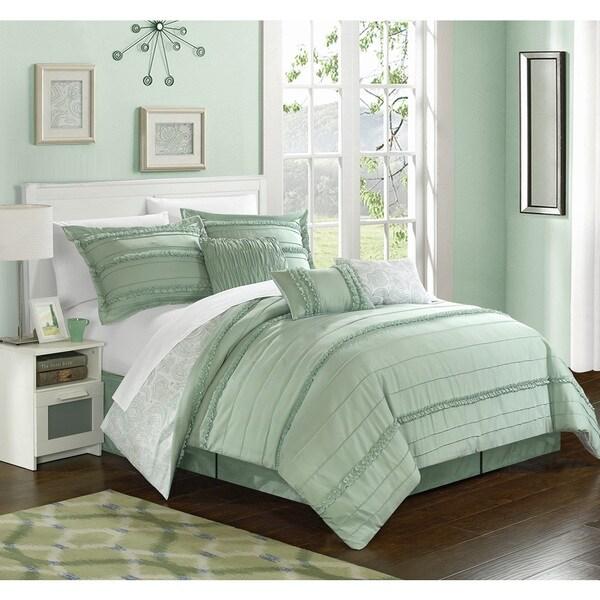 Chic Home Maeve Green Comforter 7-Piece Set