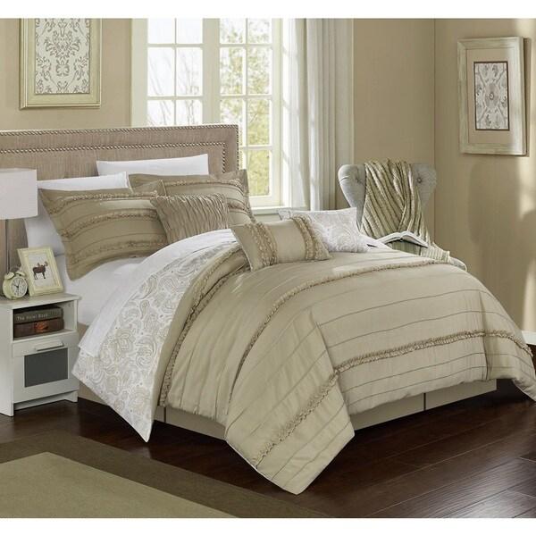 Chic Home Maeve Beige Comforter 7-Piece Set
