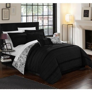 Chic Home Maeve Black Comforter 7-Piece Set