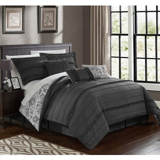 Chic Home Maeve Grey Comforter 7-Piece Set