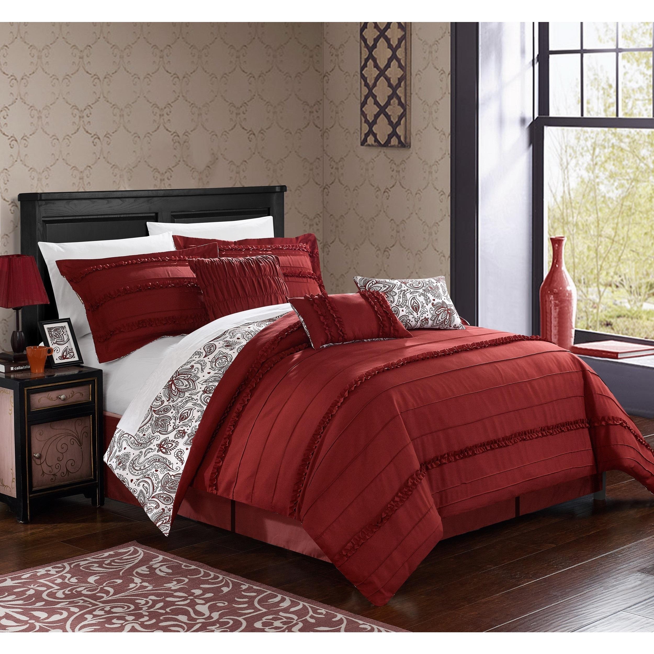 Porch & Den Montavilla Sherman Brick Reversible 7-piece Comforter Set