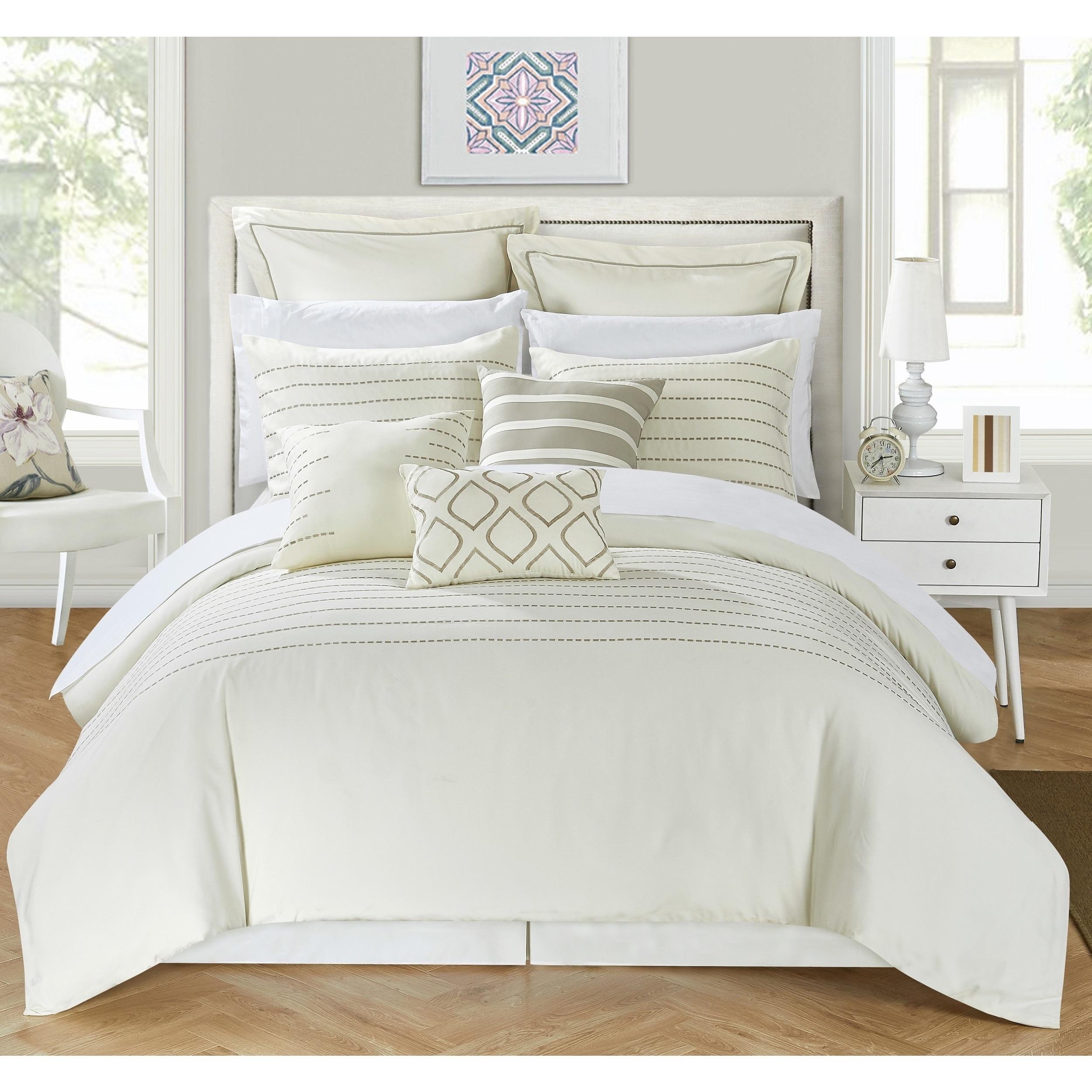 Strick & Bolton Josephine 9-piece Beige Comforter Set