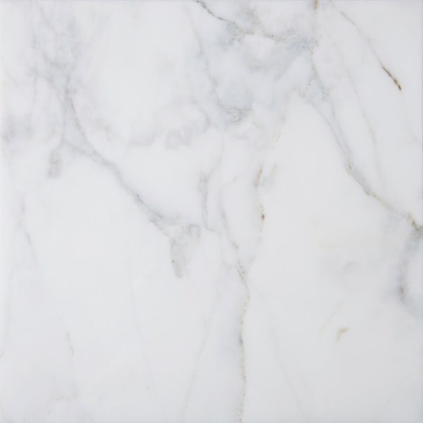 White Marble 18 X 3 8 Inch Square Polished And Beveled Italian