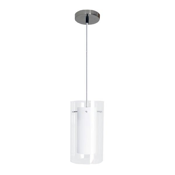 HomeSelects 7210 Contempo White Dual Glass Mini Pendant