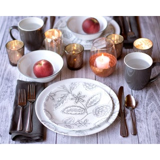 Corelle Vive 16-Piece Set Reminisce  sc 1 st  Overstock : world kitchen corelle vive dinnerware - pezcame.com