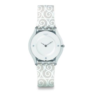 Swatch Women's SFE101 'Skin Schneehasi' White Silicone Watch