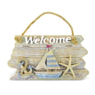 Puzzled Nautical Decor Collection Vintage Welcome Sign