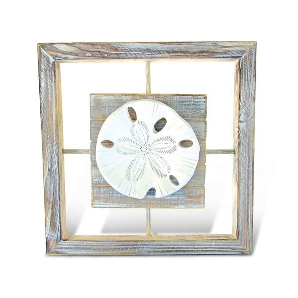 Shop Puzzled Plastic Framed Sand Dollar Wall Art - Free Shipping On ...